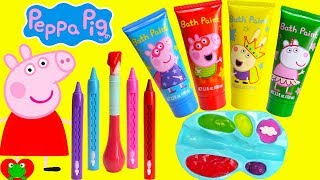 Download Video Preschool Learning Video Learn Colors Peppa Pig Play with Paints MP3 3GP MP4