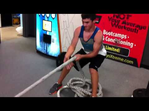 Hockey Strength Training – Rope Sled Pulls