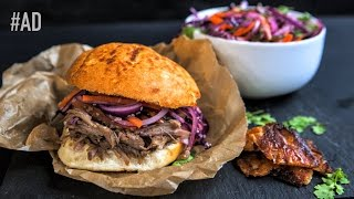 Asian Pulled Pork Bun Recipe #Ad by SORTEDfood