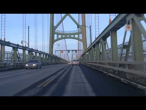 Halifax - A quiet evening drive to Woodside from downtown Halifax via the MacDonald Bridge and downtown Dartmouth. Dartmouth used to be an independent city until amalg...