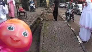 Seekor pitor nyaris menyerang ke lokasi pelaksanaan Salat Idulfitri di Lapangan Parkir  Fakultas MIPA UNM, Parangtambung, Makassar, Minggu (25/6/2017).....(*)