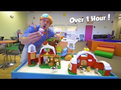 Educational Videos for Toddlers with Blippi Toys | 1 Hour of Playground and Animals