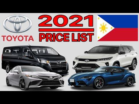 TOYOTA PRICE LIST IN PHILIPPINES 2021