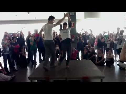 Kike and Estefania, bachata workshop Costa dourada bachata festival 2012 (видео)