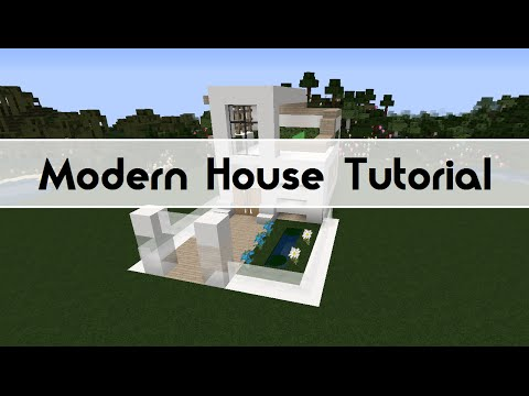 Modern house tutorial minecraft blog for Modern house tutorial