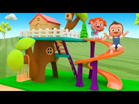 Little Baby & Girl Fun Play Assembling Wooden House Slider ToySet 3D Kids Learning Videos Education