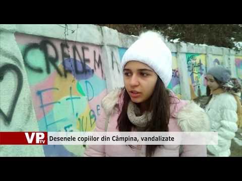 Desenele copiilor din Câmpina, vandalizate