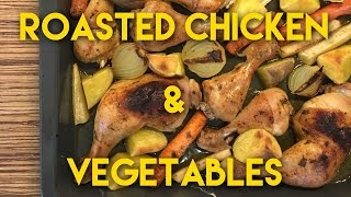 Oven Roasted Chicken With Vegetables  Delicious Baked Chicken Thighs & Drumsticks With Veggies One thing that I love about baked chicken is that you can add...