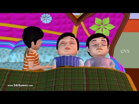 Ten In The Bed Nursery Rhyme - 3D Animation English Rhymes & Songs For Children (Ten In A Bed)