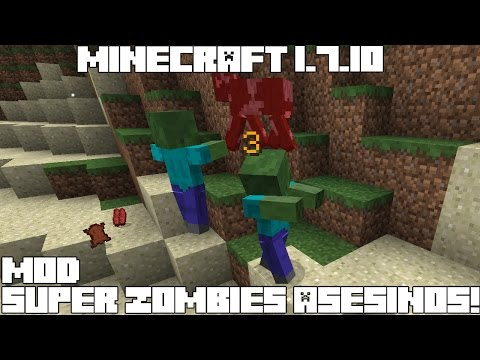 Minecraft 1.7.10 MOD SUPER ZOMBIES ASESINOS! Hungry Zombies Mod Español!