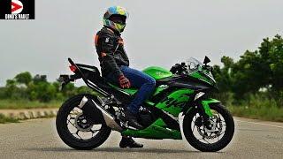 3. Kawasaki Ninja 300 ABS First Ride Review Pros Cons Braking Test #Bikes@Dinos