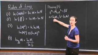 Rules Of Logs | MIT 18.01SC Single Variable Calculus, Fall 2010