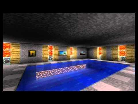 Pool lighting system using pistons minecraft project