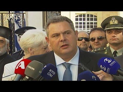 Τη στήριξη της Ελλάδας στις προσπάθειες για λύση του Κυπριακού, εξέφρασε ο Π. Καμμενος
