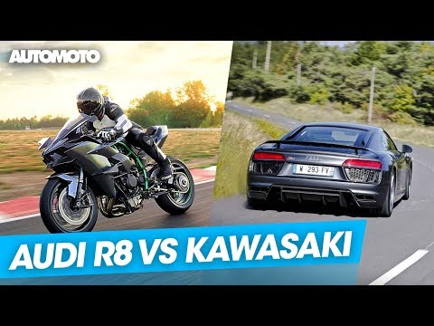 kawasaki ninja h2r vs audi r8 v10 - who will win?