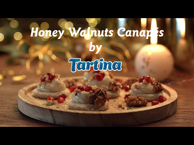Honey Walnuts Canapés