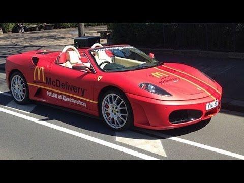 ¿Comida rápida? Este McDonald's hace delivery en un Ferrari