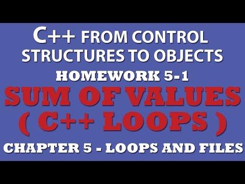 C++ Sum Of Values (Ex 5.1) – Using C++ Loops
