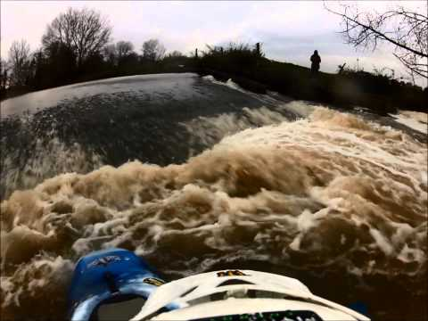 Canford Magnor Weir Playboating