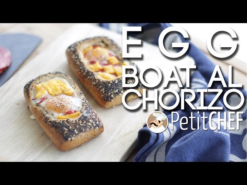 egg boat al chorizo - ricetta
