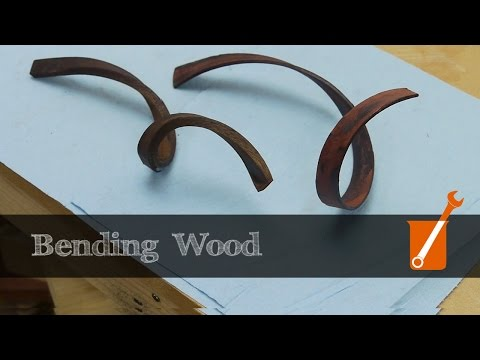 Apparently you can bend wood using gaseous ammonia, this is a pretty cool demonstration of it. Also this channel has a ton of cool DIY type stuff.