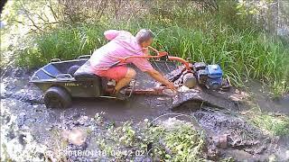Мотоблок по реальной грязи