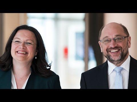 Andrea Nahles & Martin Schulz: So geht gute Rente | Pre ...