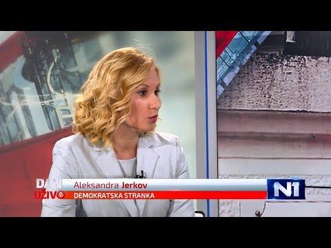 Александра Јерков у емисији Дан уживо на ТВ Н1 (24.8.2017)