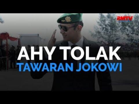 AHY Tolak Tawaran Jokowi