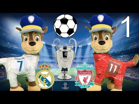 Final Madrid Liverpool futbol: con Paw patrol bebes español, peppa pig, pj masks y patrulla canina