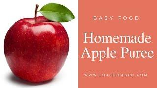 Apple Puree   Baby Food (Video)