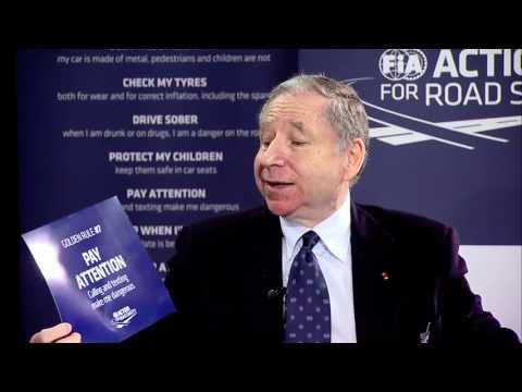 Todt - Interview with World Telecommunication and Information Society Laureate, Jean Todt, President, FIA, on World Telecommunication and Information Society Day, 1...
