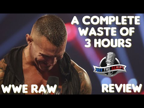 WWE Raw 8/31/20 Full Show Review: RANDY ORTON WASTES 3 HOURS GETTING A TITLE SHOT HE ALREADY EARNED