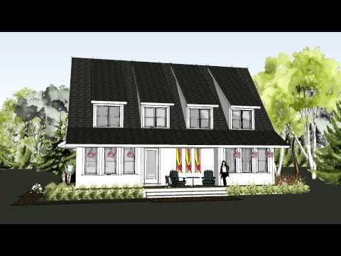 Simple, unique modern farmhouse plan with dramatic roof line – The Marine