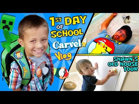 CHASE'S 1st Day of SCHOOL! + Shawn's Old House Tour w/ Carvel Ice Cream (FUNnel Vision Vlog) (видео)