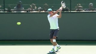 Tennis Highlights, Video - Rafael Nadal Ultimate Compilation - Forehand - Backhand - Serve - Volley - 2013 Indian Wells