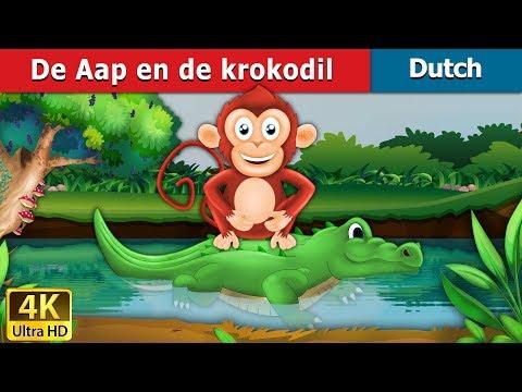 De Aap en de krokodil | 4K UHD | Dutch Fairy Tales