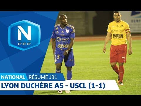 31e J. National   Résumé Lyon Duchère AS  - US Créteil Lusitanos (1-1)