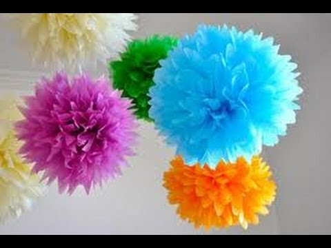 Pompom de papel de seda - PAP