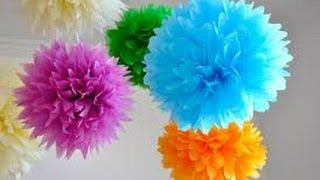 Pompom de papel de seda - PAP - YouTube