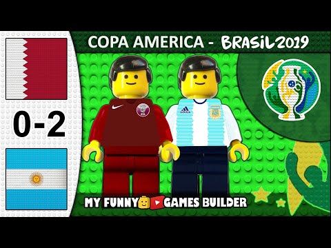 Qatar vs Argentina 0-2 • Copa America 2019 Brasil (23/06/2019) All Goals Highlights Lego Football