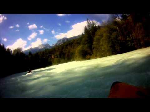 Soca river white water kayaking, Golobar section, Slovenia 19-09-2010