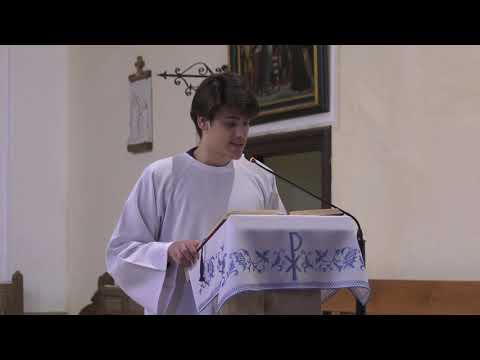 Szentmise közvetítése a Nagyatádi Szent Kereszt Templomból felvételről 2020. 05. 17.