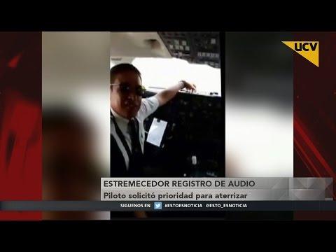 video Se filtra estremecedor audio del piloto antes de la tragedia de avión del Chapecoense