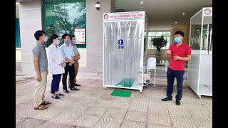 Trường Cao đẳng Công nghiệp và Xây dựng chế tạo thành công buồng khử khuẩn toàn thân và thiết bị đo thân nhiệt không chạm