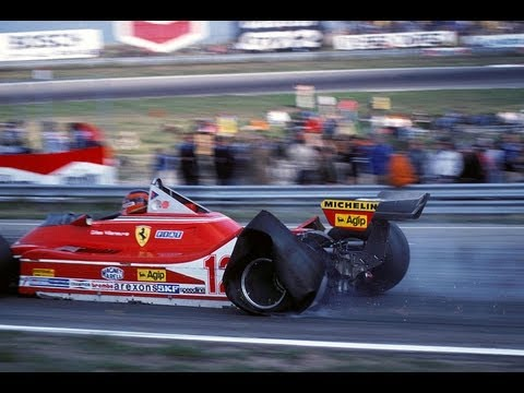 gilles villeneuve fa un giro su 3 ruote - zandvoort 1979