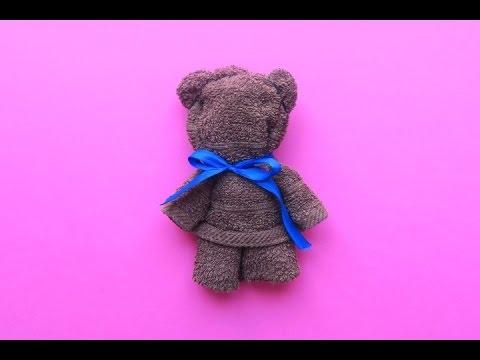Come realizzare un orsetto con un asciugamano