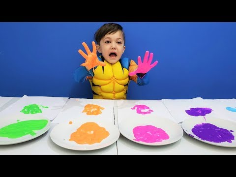 Learn Colors with Body Paint & Finger Family Song | Nursery Rhymes