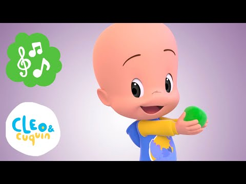 Learn the colors with Cleo, Cuquin, dinosaurs and the best nursery rhymes | Familia Telerín