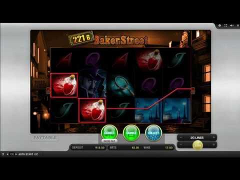 Kostenloser 221B Baker Street Spielautomat von Merkur Video Vorschau   HEX